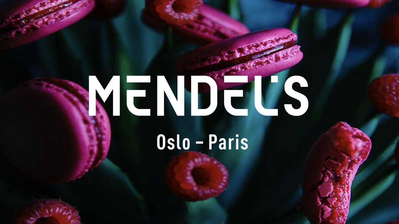01 Mendels logo makroner bringebaer 1400x788px