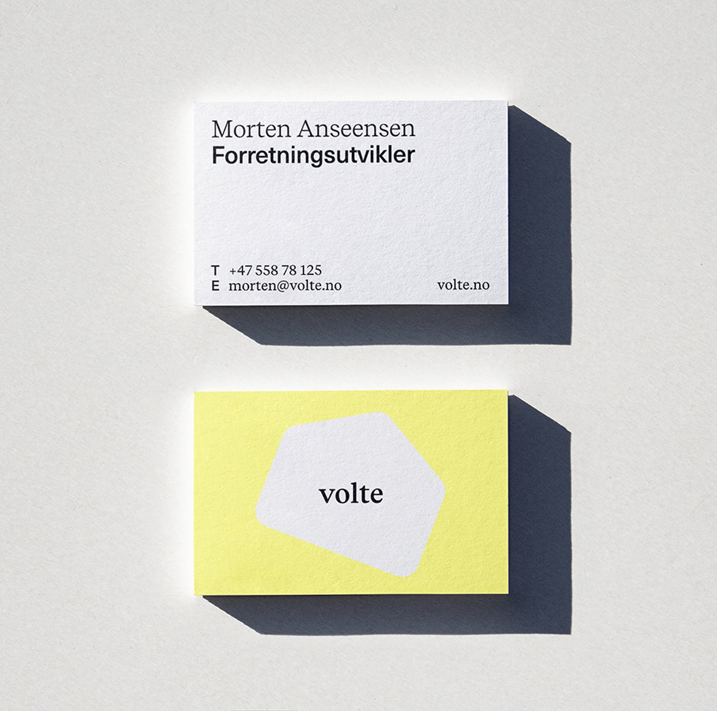 2 Volte business card S
