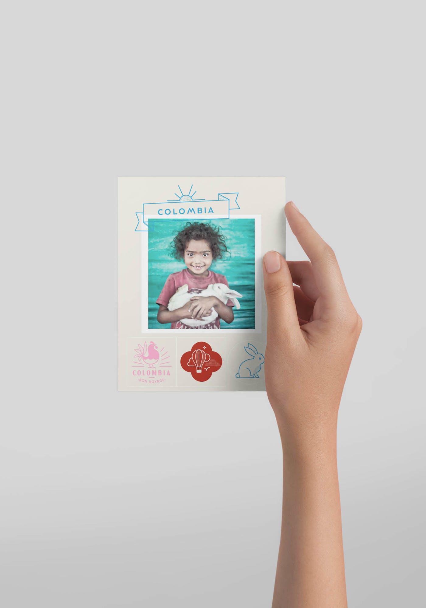 4 postkort mockup