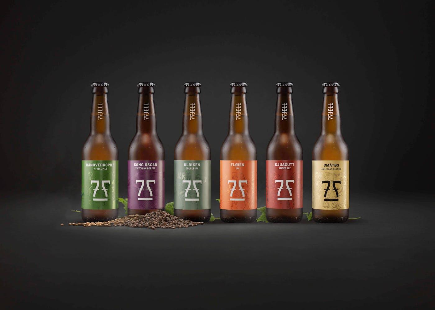 7 Fjell Bottles Lineup