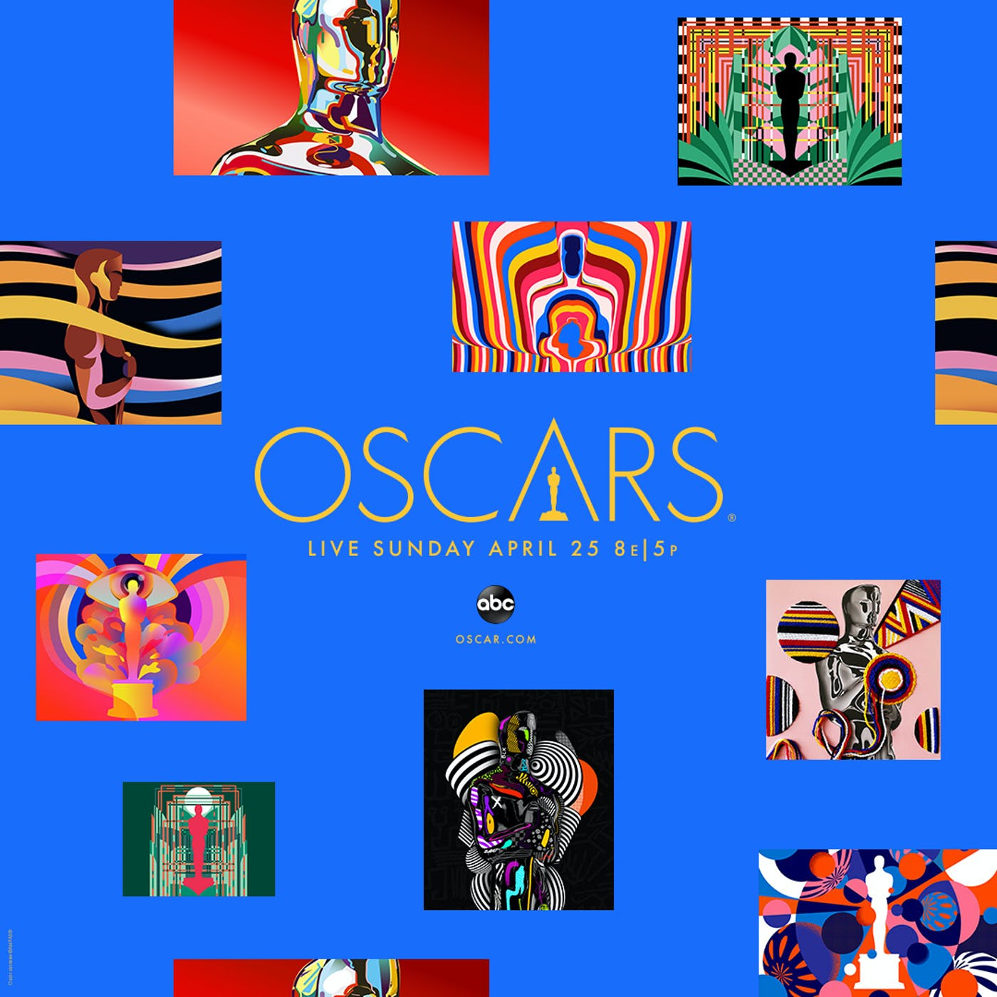 93 Oscars KA Poster Square 1080x1080 Blue
