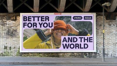 ANTI Viking Aqua Identity Billboard