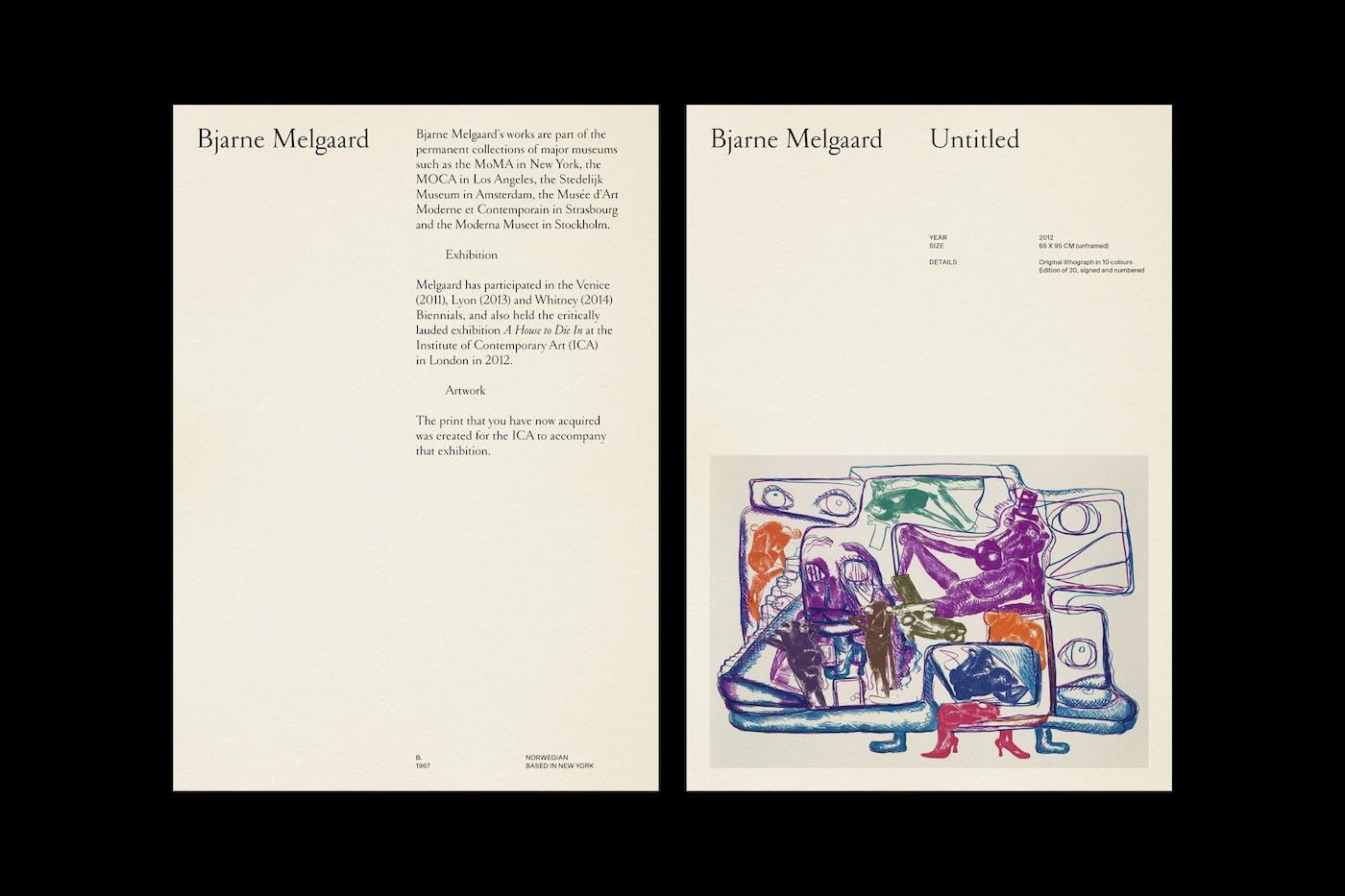 Cornelia Svedman Bjarne Melgaard Artist Page