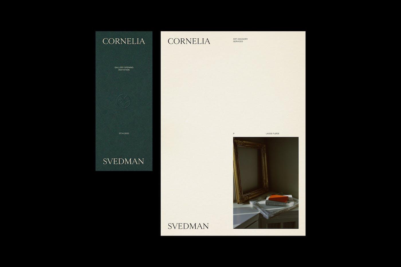 Cornelia Svedman Invitation Photo Letter
