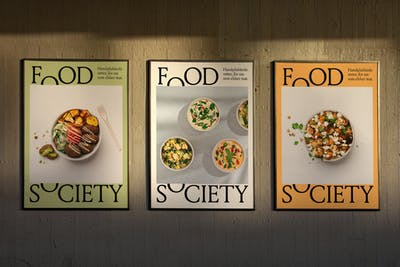 Food Society 3 Posters