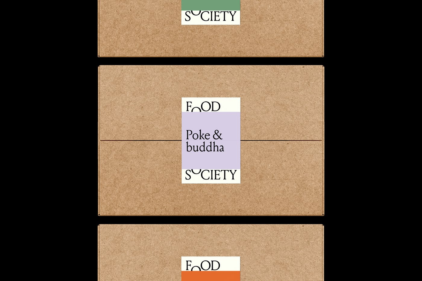 Food Society Boxes Stickers