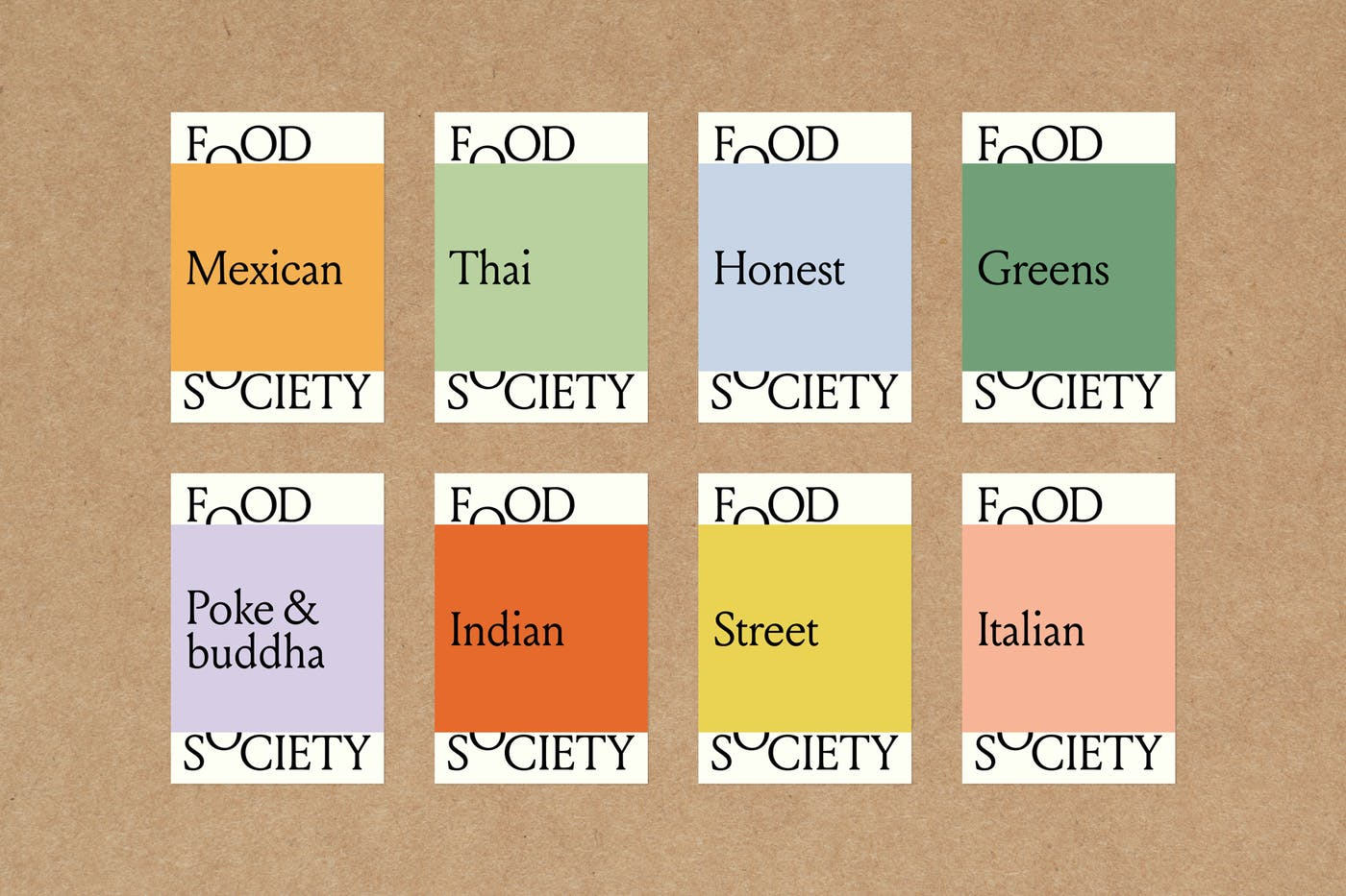 Food Society Stickers