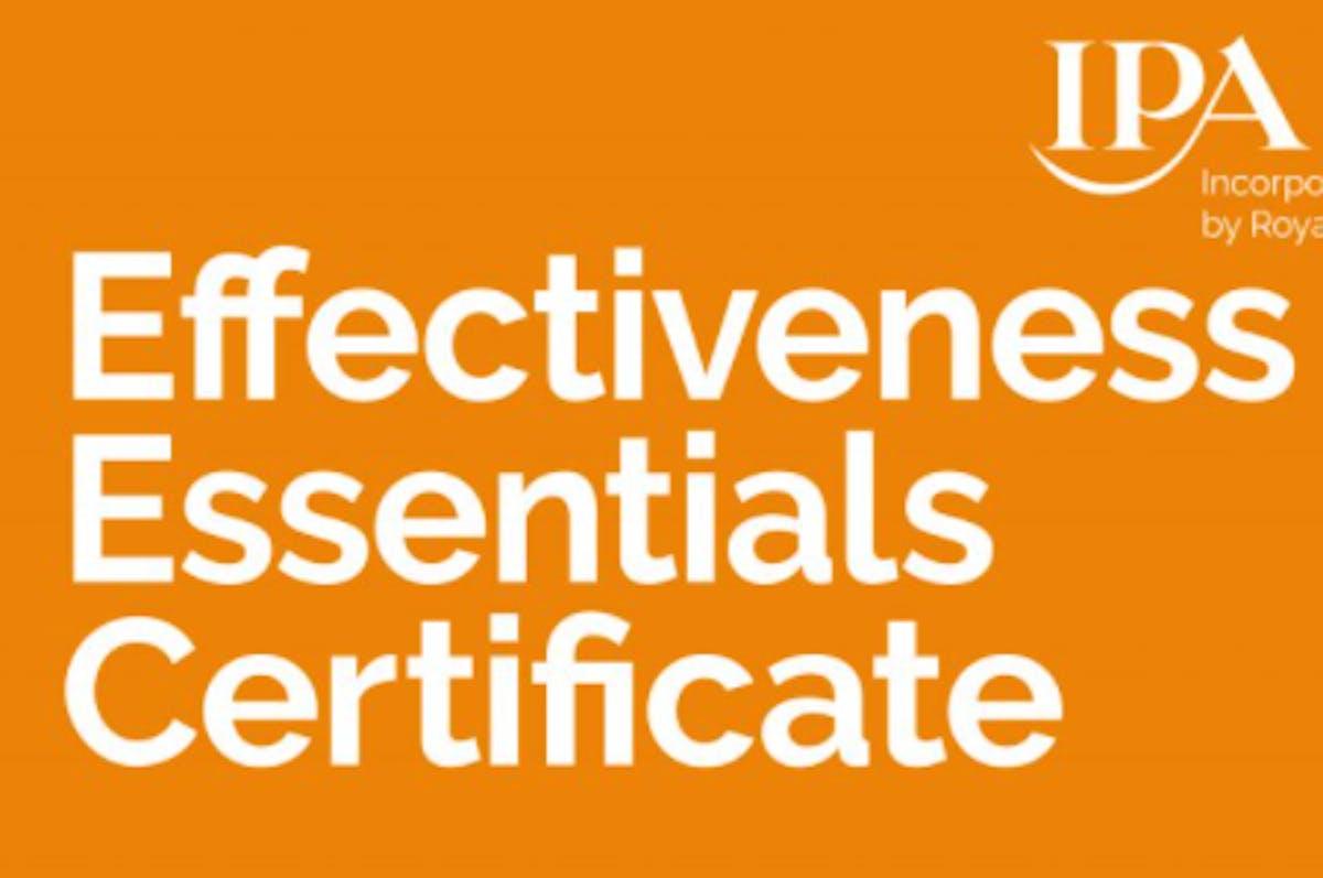 IPA Effectiveness Essentials Certificate 3 2
