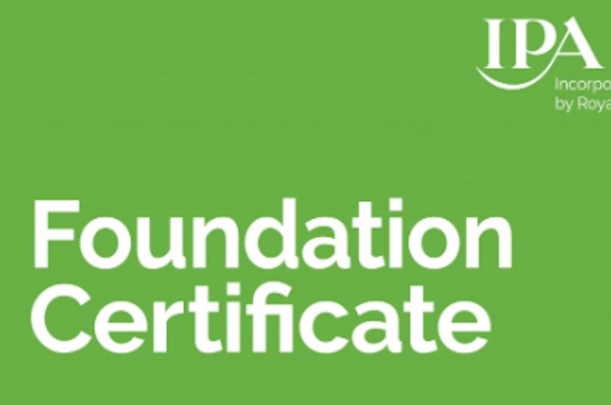 IPA Foundation Certificate 3 2