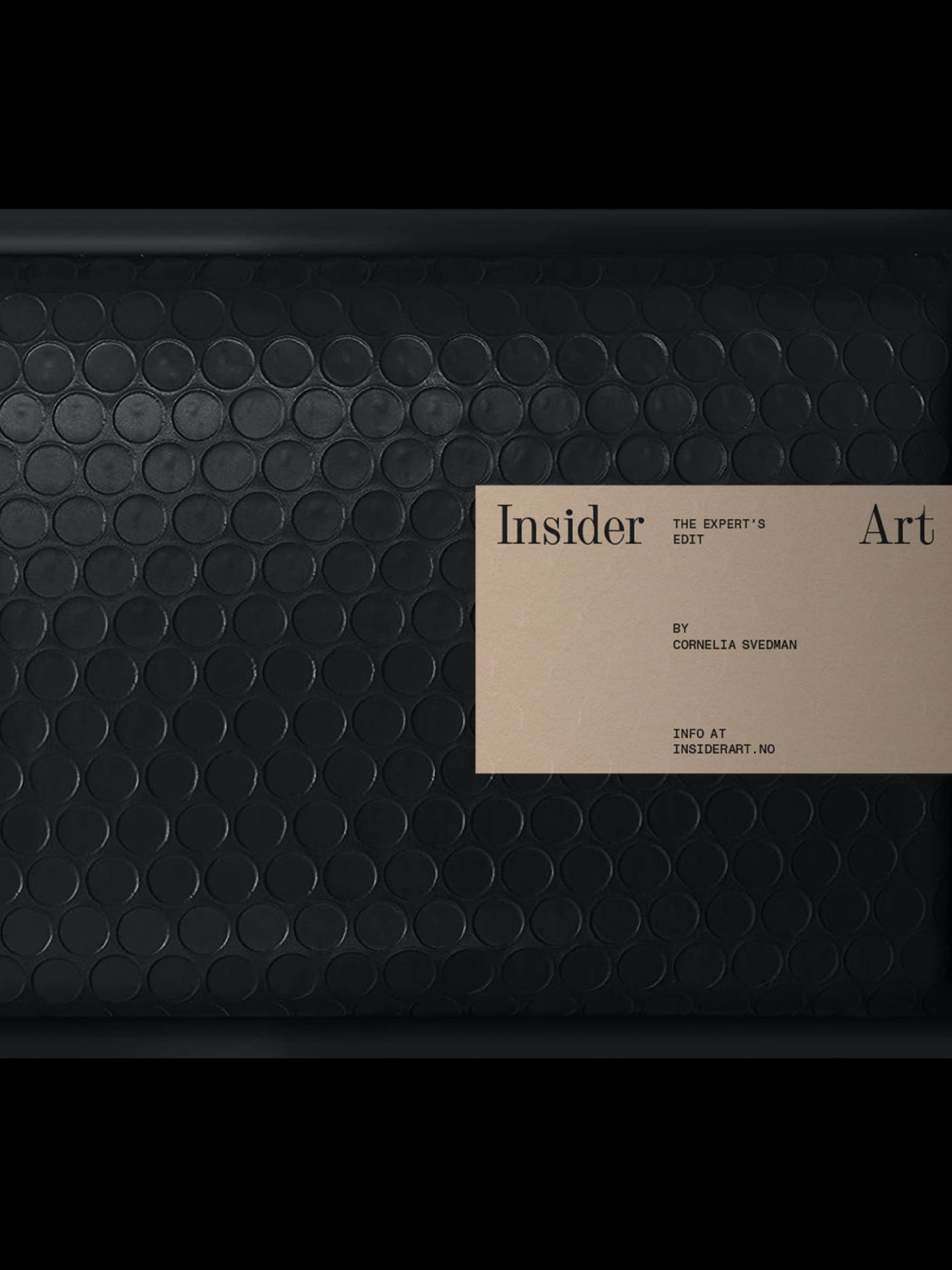 Insider Art Labeled Bubble Enveloppe