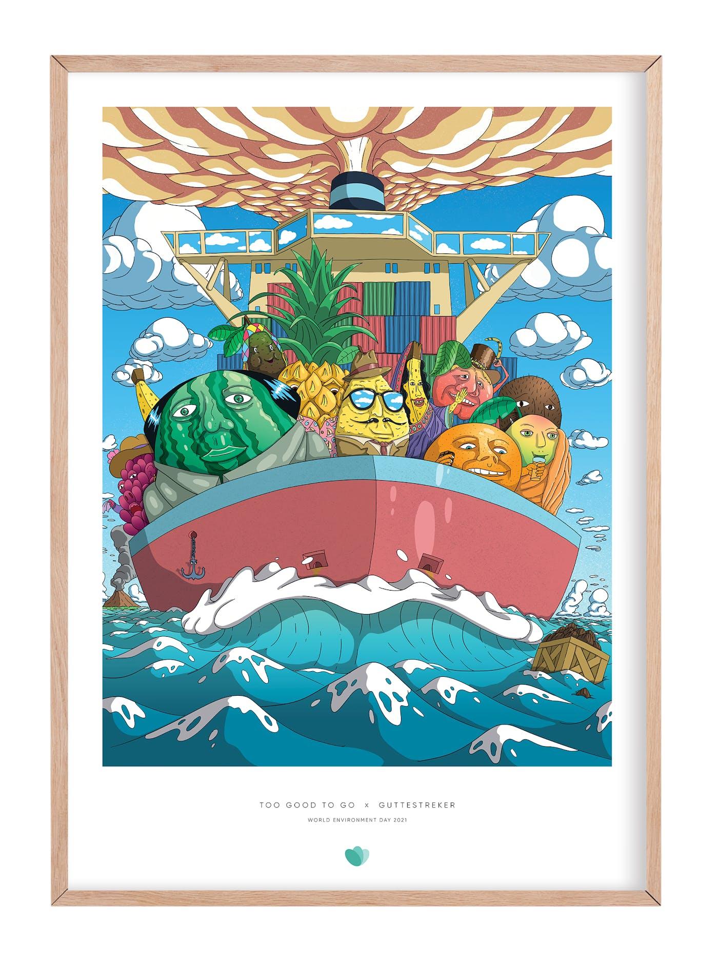 TGTG poster frame Guttestreker