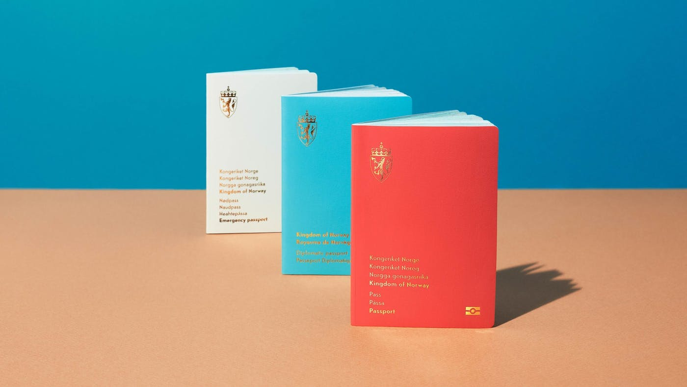 The Norwegian passports by Neue three cover colors 2020 scaled