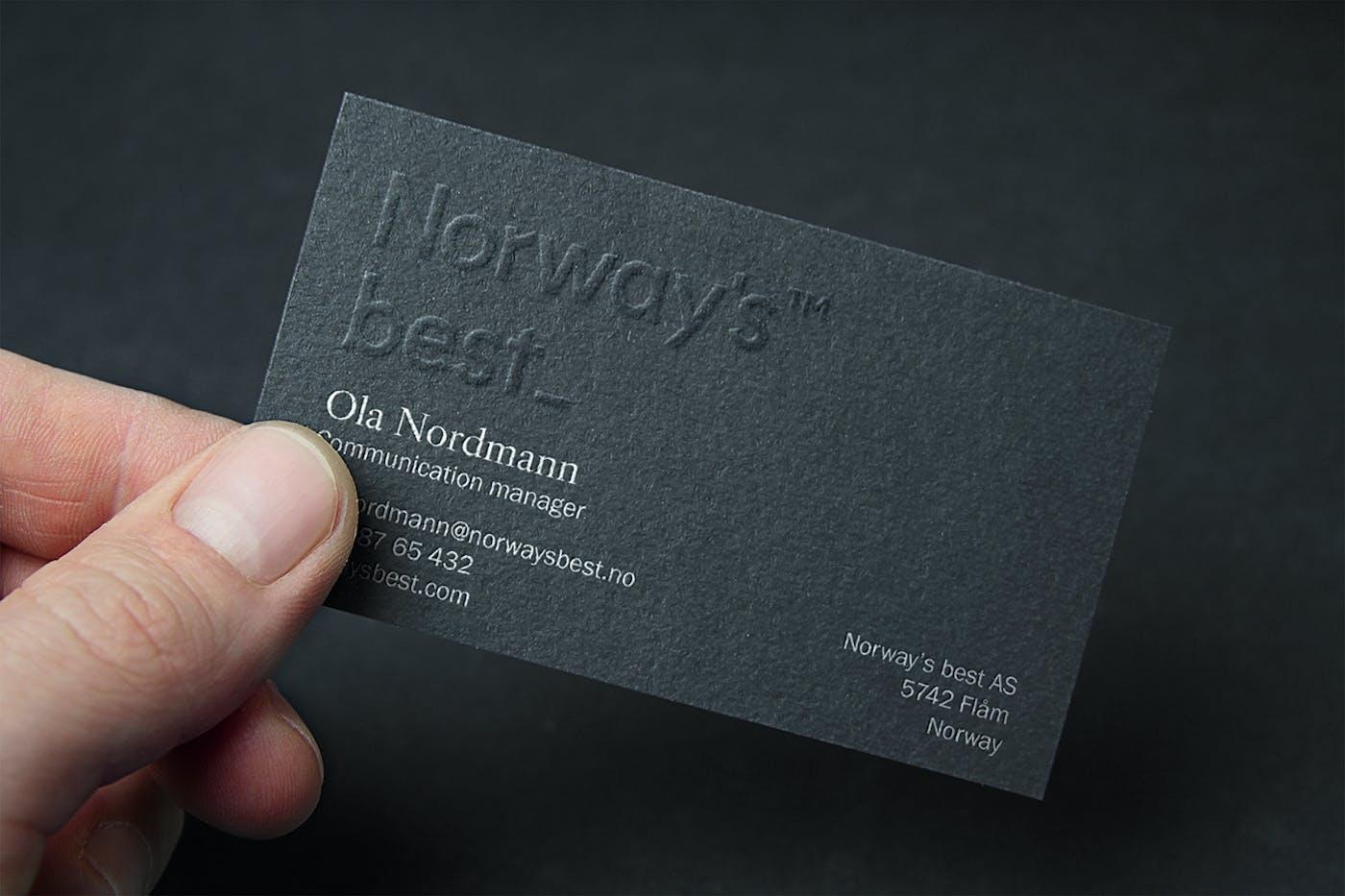 Uniform Norways Best 4 Business Card
