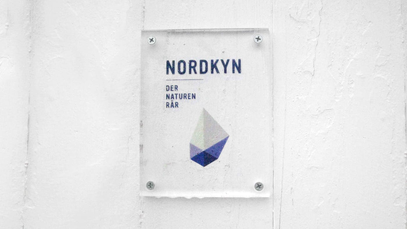 Nordkyn signage wall